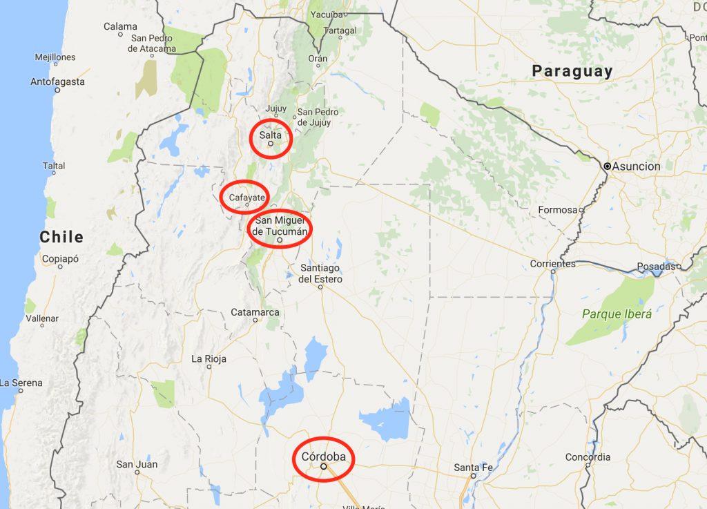 North-Argentina Itinerary