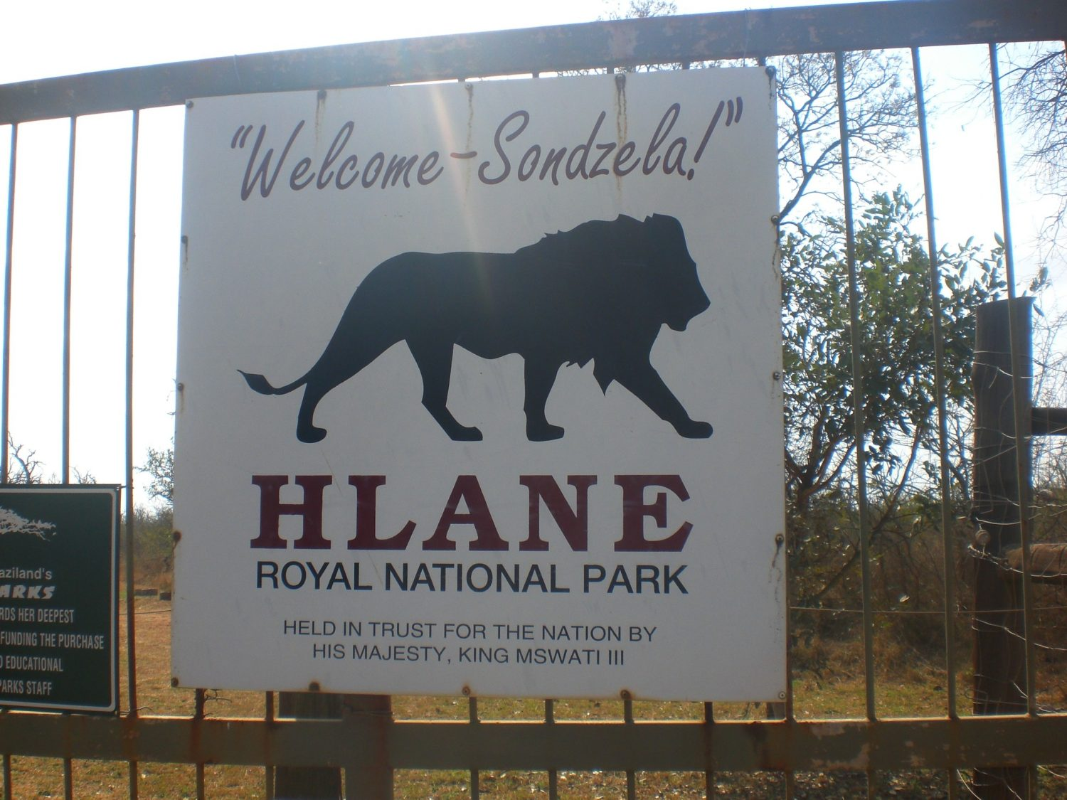 Backpacking in South-Africa - Swaziland Hlane National Park