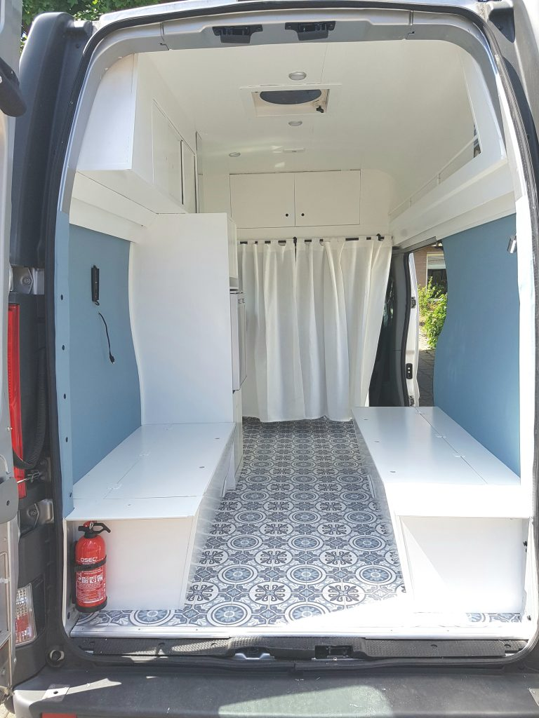 Campervan Interior - Curtains - DIY Campervan Conversion