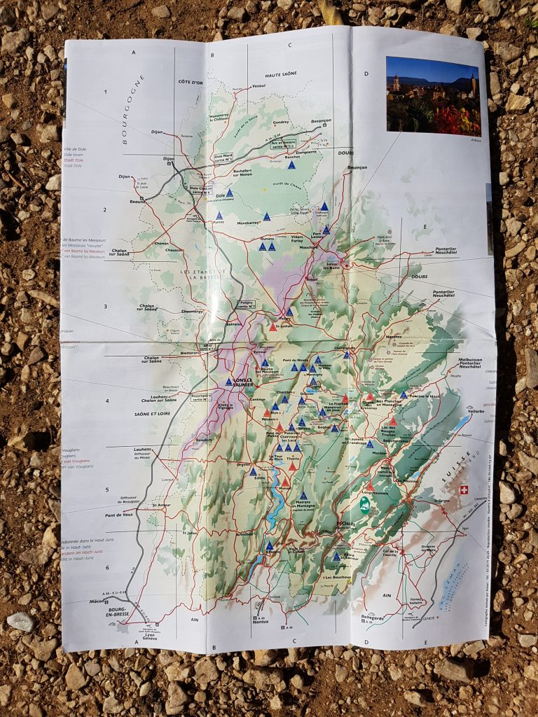 Roadtrip Through The Jura - Map