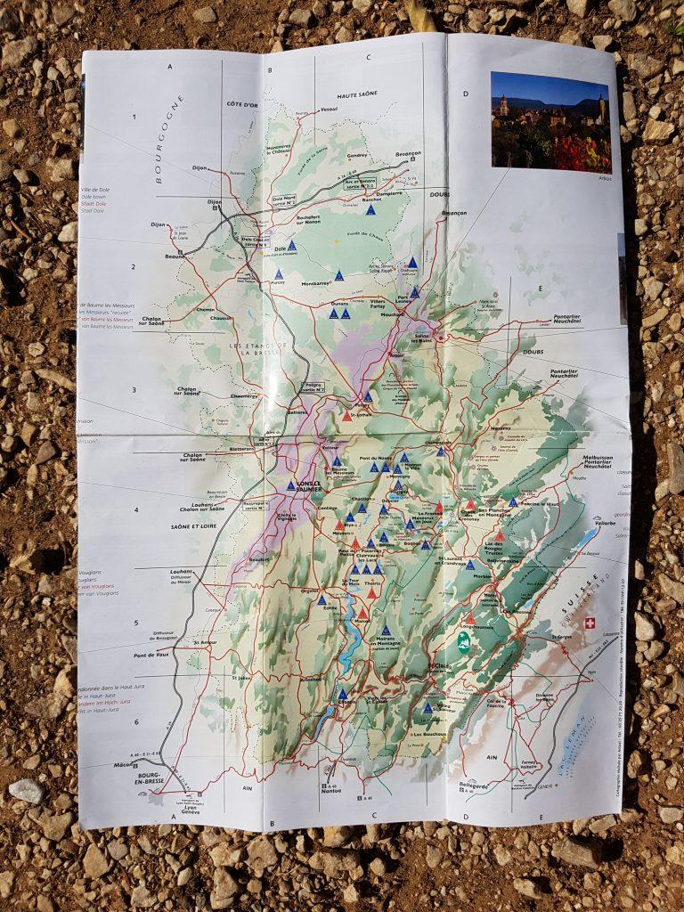 Roadtrip Through The Jura - Map