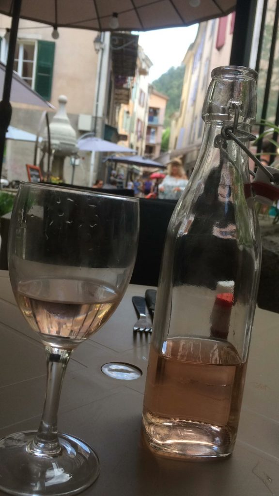 A Glass of Rose in Castellane - Gorges du Verdon