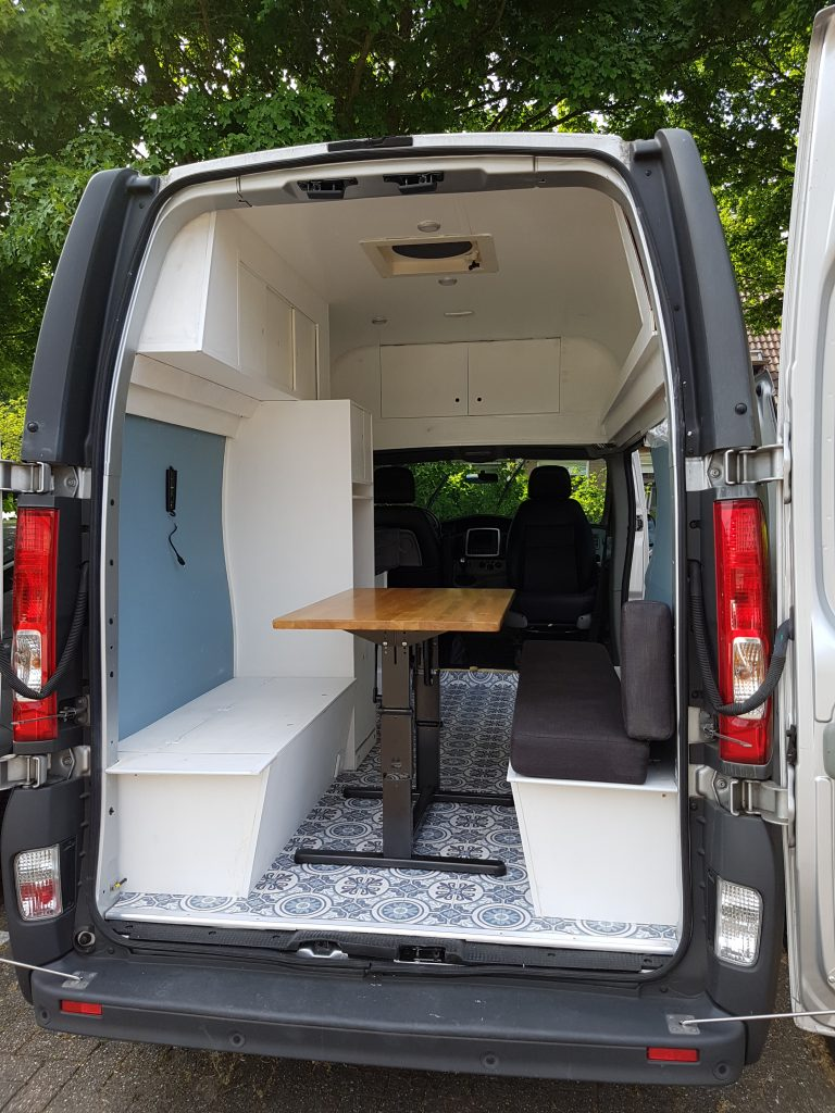 Foldable Table in Campervan ConversionFoldable Table in Campervan Conversion