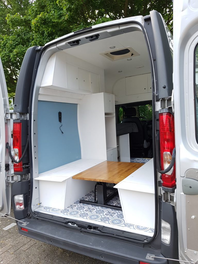 Foldable Table In Campervan Conversion