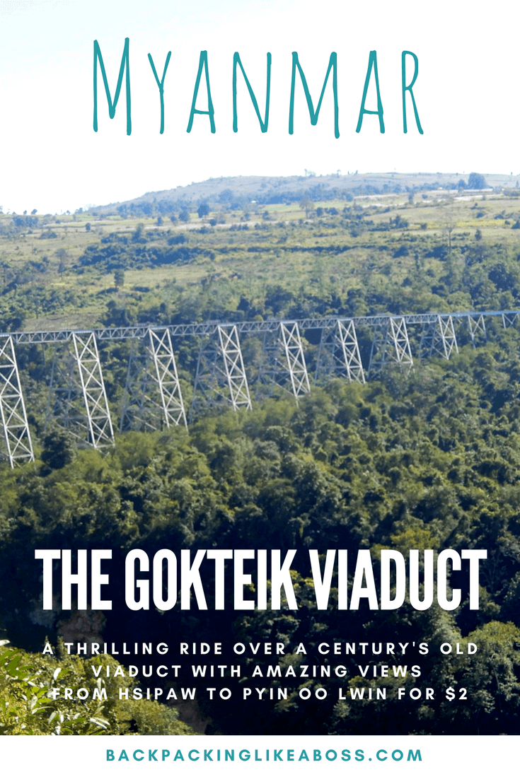 Gotkeik Viaduct in Myanmar