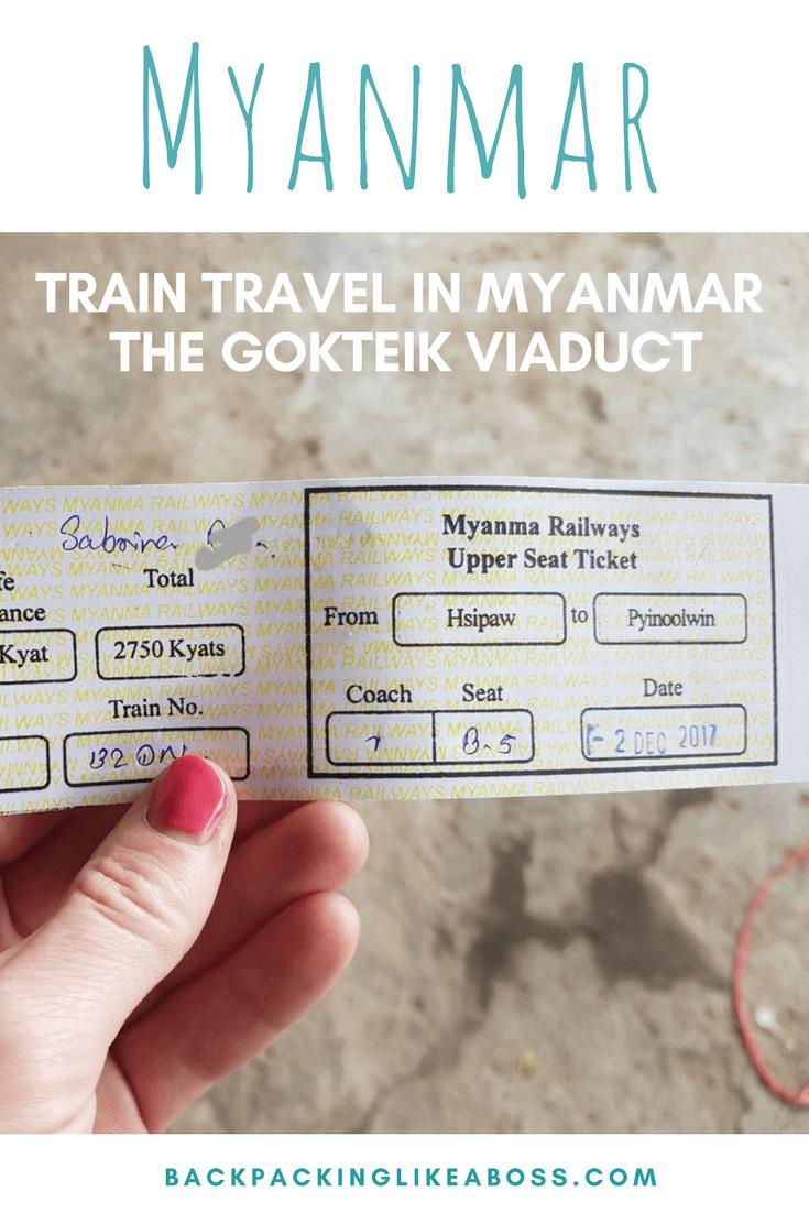 Gotkeik Viaduct in Myanmar