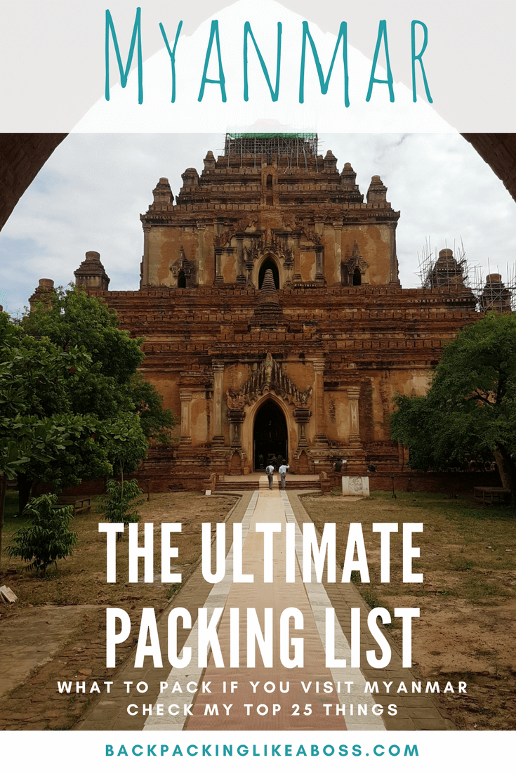 Ultimate packing list for Myanmar