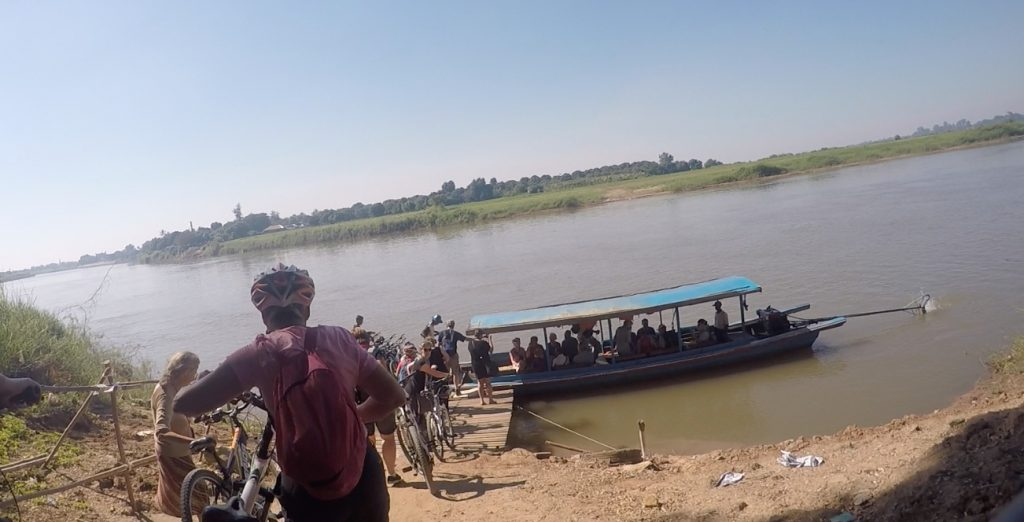 Cycling in Myanmar with Grasshoppers around Mandalay