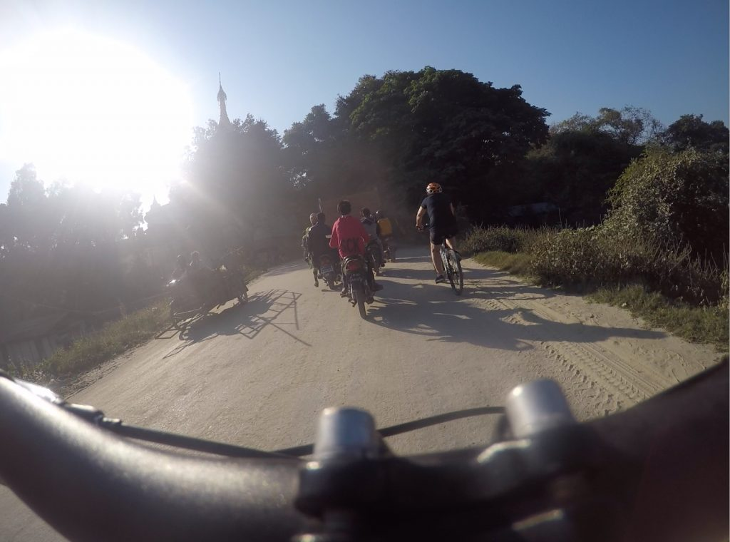 Cycling in Myanmar with Grasshoppers