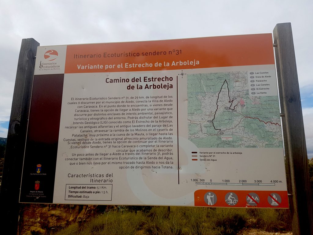 Things to do in Murcia - Sierra Espuna - Estrecho de Arboleja