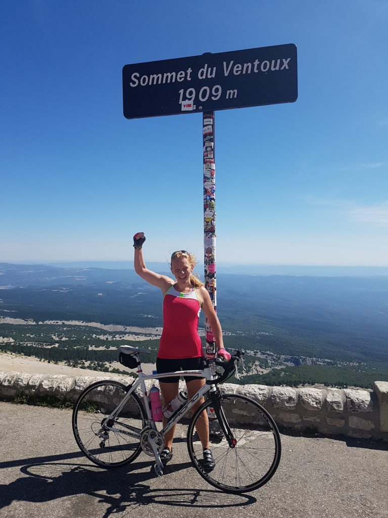 Cycling Mont Ventoux - on the top