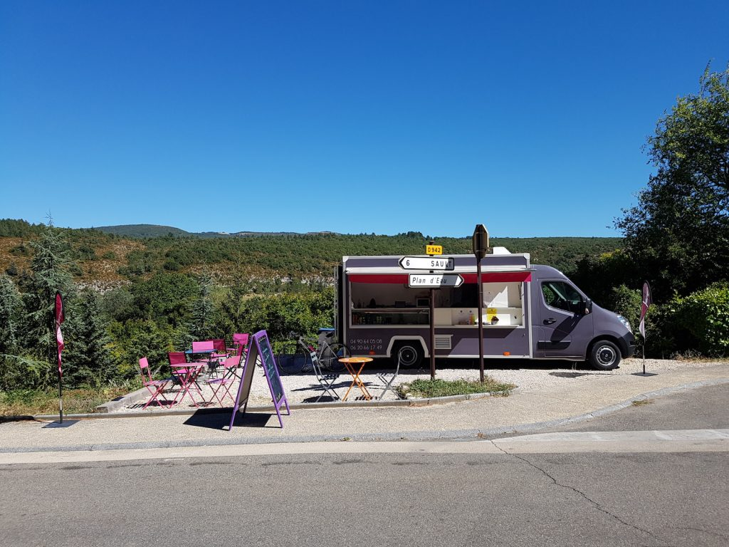 Foodtruck on Cycling Gorges de la Nesque - Mont Ventoux