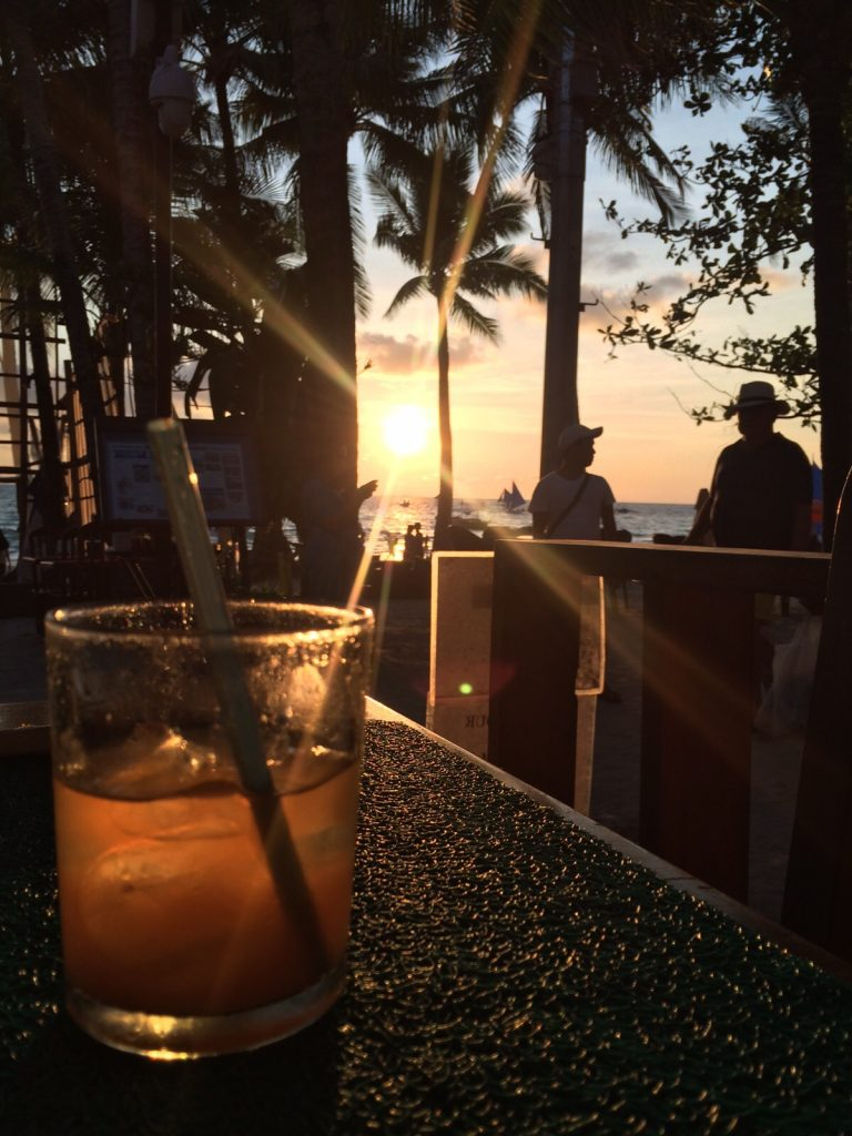 beaches in boracay - happy hour