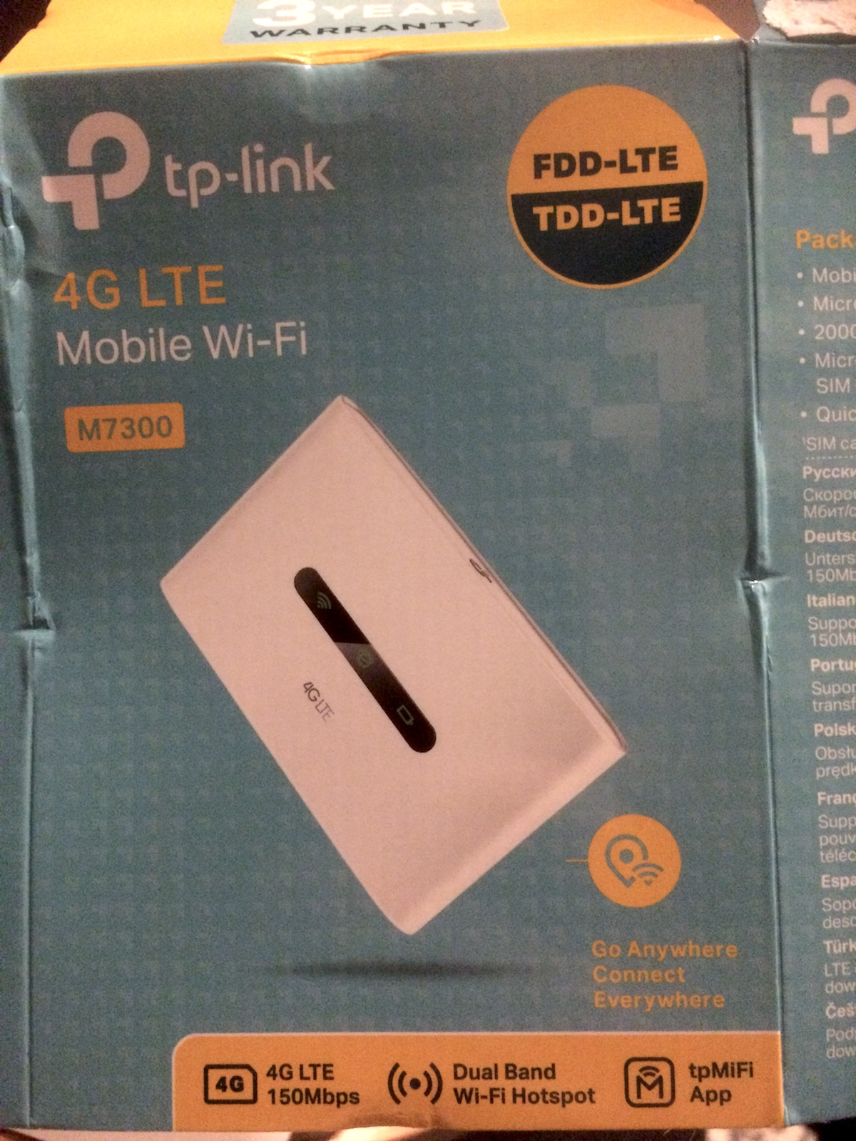 TP M7300 Mifi Router - Campervan wifi - RV wifi