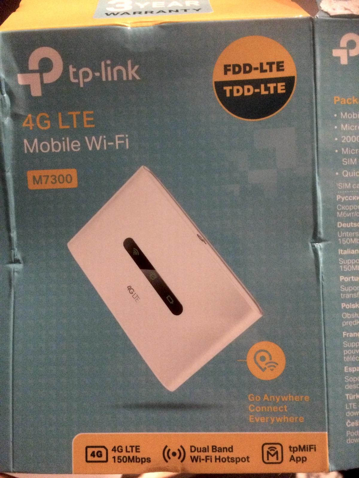 TP M7300 Mifi Router - Campervan wifi - RV wifi