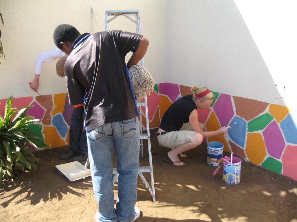 Volunteering in South Africa painting school